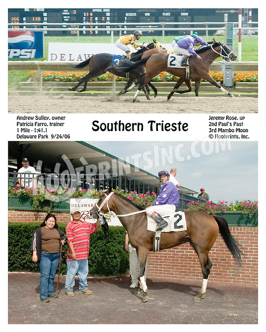 Southern Triste winning at Delaware Park on 9/24/2006