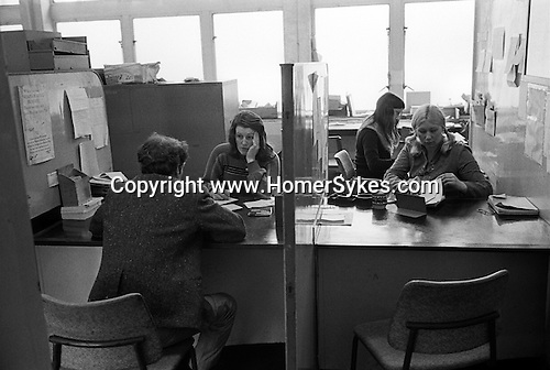 Labour Exchange south London. England 1976