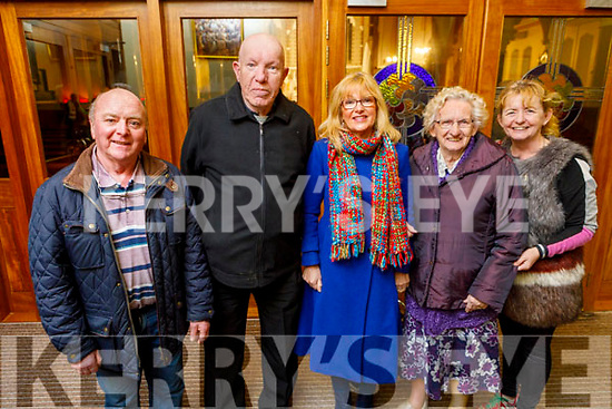 Gerard O'Sullivan, Dan Lyons (Castleisland), Nora Drumm, Mary O'Brien and Maureen Fleming from Tralee attending the monthly devotions to Padre Pio in Saints Stephen and John's Church in Castleisland on Tuesday.