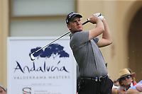 Robert Karlsson (SWE) tees off the 10th tee during Sunday's storm delayed Final Round 3 of the Andalucia Valderrama Masters 2018 hosted by the Sergio Foundation, held at Real Golf de Valderrama, Sotogrande, San Roque, Spain. 21st October 2018.<br /> Picture: Eoin Clarke | Golffile<br /> <br /> <br /> All photos usage must carry mandatory copyright credit (&copy; Golffile | Eoin Clarke)