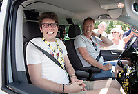 For the very first time since his race accident 2,5 years ago, which left him in a coma for 7 months and from which he miraculously awakened, former rider Stig Broeckx visits a cycling race.<br /> Driven around in the VIP-van of his former Lotto-Soudal team with driver (former Flanders winner ) Eric Vanderaerden (138 career wins!!) sitting next to him.<br /> As they stop halfway up the Col de Peyresourde, (mainly Belgian) people spontaneously walk up to the car to greet Stig, who has become an inspiration to many because of the way he fights back to a 'normal life'.<br /> <br /> Stage 12: Toulouse to Bagnères-de-Bigorre (209km)<br /> 106th Tour de France 2019 (2.UWT)<br /> <br /> ©kramon