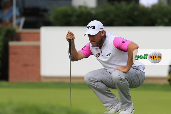 Lee Westwood (ENG) on the 9th green during Friday's Round 1 of the 2016 U.S. Open Championship held at Oakmont Country Club, Oakmont, Pittsburgh, Pennsylvania, United States of America. 17th June 2016.<br /> Picture: Eoin Clarke | Golffile<br /> <br /> <br /> All photos usage must carry mandatory copyright credit (&copy; Golffile | Eoin Clarke)