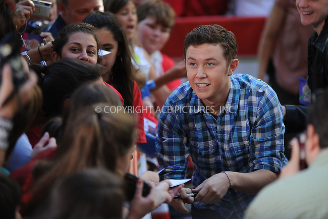 WWW.ACEPIXS.COM . . . . . .June 2, 2011...New York City...Scotty McCreery performs on NBC's 'Today' at Rockefeller Center on June 2, 2011 in New York City.....Please byline: KRISTIN CALLAHAN - ACEPIXS.COM.. . . . . . ..Ace Pictures, Inc: ..tel: (212) 243 8787 or (646) 769 0430..e-mail: info@acepixs.com..web: http://www.acepixs.com .