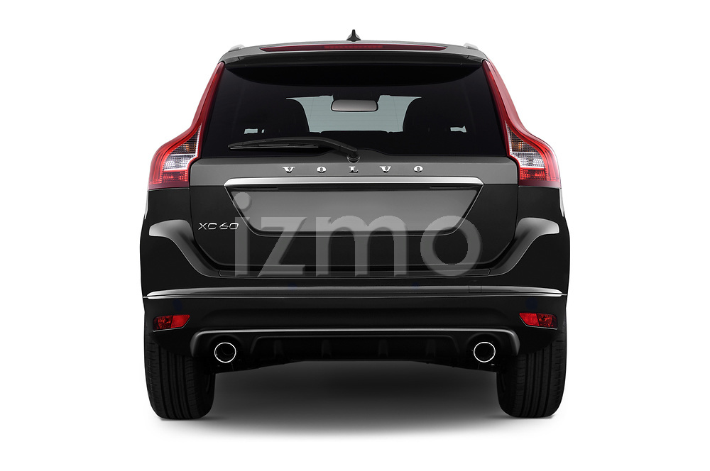 Straight rear view of 2017 Volvo XC60 R-Design 5 Door SUV Rear View  stock images