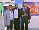 MIAMI, FL - DECEMBER 05: Haiti Counsel General Stephane Gilles, Actor Jimmy Jean-Louis and Richard Nelson attends the NE2P Art Beat Miami Chef Creole Celebrity Brunch at the Little Haiti Cultural Center on Saturday December 05, 2015 in Doral, Florida.  ( Photo by Johnny Louis / jlnphotography.com )