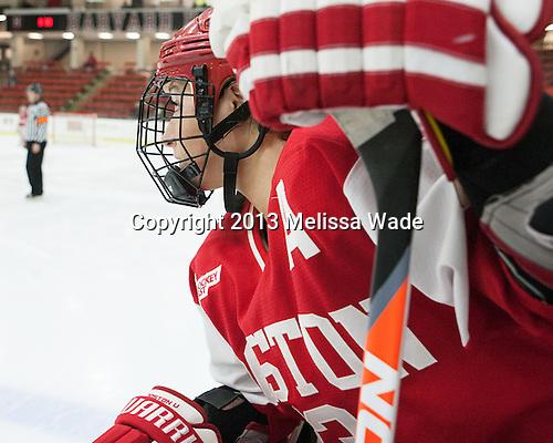 Kaleigh Fratkin (BU - 13) - The Harvard University Crimson defeated the visiting Boston University Terriers 3-1 on Friday, November 22, 2013, at Bright-Landry Hockey Center in Cambridge, Massachusetts.