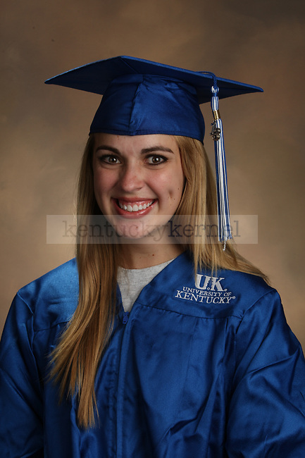 Sharp, Emily graduation portrait taken at the fall Grad Salute at the University of Kentucky in Lexington, Ky., on 10/2/13.
