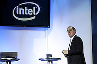 1/7/08,Las Vegas,Nevada  --- Intel President and CEO Paul Otellini delivers a keynote address for the 2008 International Consumer Electronics Show (CES) at the Venetian Resort in Las Vegas.  --- Chris Farina