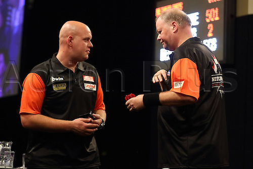 13.06.2015. Frankfurt, Germany. BWIN, PDC World Cup of Darts.  MICHAEL VAN GERWEN, RAYMOND VAN BARNEVELD Netherlands versus USA.