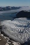 Aialik Glacier from above. Kenai Fjords National Park, Alaska. Aerial photo on 8-21-10.