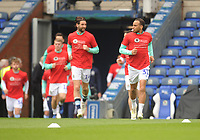 Blackburn Rovers squad during the pre-match warm-up <br /> <br /> Photographer Kevin Barnes/CameraSport<br /> <br /> The EFL Sky Bet Championship - Blackburn Rovers v Swansea City - Sunday 5th May 2019 - Ewood Park - Blackburn<br /> <br /> World Copyright © 2019 CameraSport. All rights reserved. 43 Linden Ave. Countesthorpe. Leicester. England. LE8 5PG - Tel: +44 (0) 116 277 4147 - admin@camerasport.com - www.camerasport.com