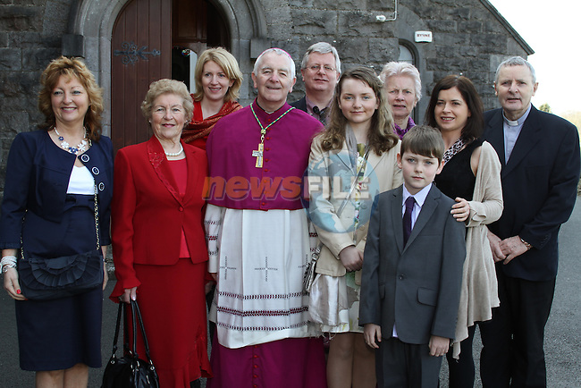 Rhona Hopkins and family at Tullyallen NS. Confirmation...(Photo credit should read Jenny Matthews www.newsfile.ie)....This Picture has been sent you under the conditions enclosed by:.Newsfile Ltd..The Studio,.Millmount Abbey,.Drogheda,.Co Meath..Ireland..Tel: +353(0)41-9871240.Fax: +353(0)41-9871260.GSM: +353(0)86-2500958.email: pictures@newsfile.ie.www.newsfile.ie.