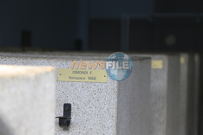 The old showers with previous winner's nameplates, beside the Roubaix velodrome in preparation for the upcoming 115th edition of the Paris-Roubaix 2017 running 257km from Compiegne to Roubaix, France. 8th April 2017.<br /> Picture: Eoin Clarke | Cyclefile<br /> <br /> <br /> All photos usage must carry mandatory copyright credit (&copy; Cyclefile | Eoin Clarke)