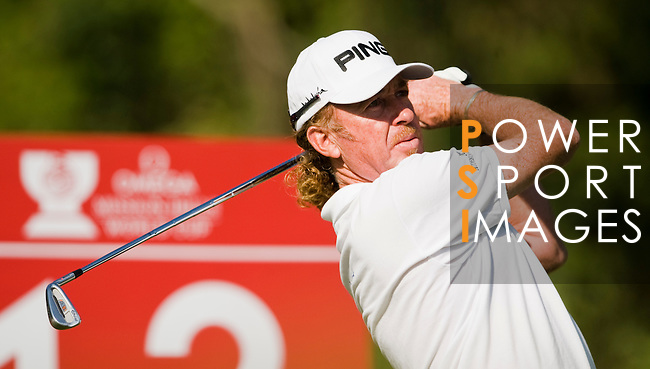 Miguel Angel Jimenez of Spain in action during the 54th Omega Mission Hills World Cup of Golf on November 29, 2008 in Shenzhen, China. Photo by Victor Fraile