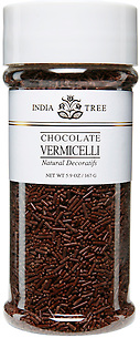 10509 Natural Chocolate Vermicelli, Tall Jar 5.9 oz, India Tree Storefront