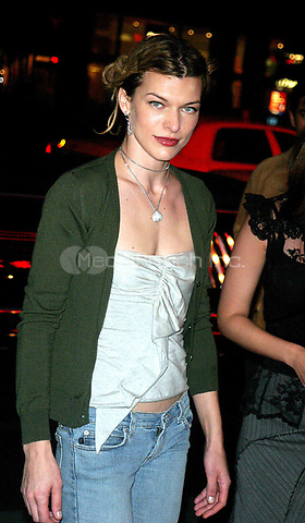 "MILLA JOVOVICH 09/09/2003<br /> THE NEW YORK PREMIERE OF<br /> ""DUMMY"". SONY LINCOLN SQUARE, NYC<br /> Photo By John Barrett/PHOTOlink.net /MediaPunch"