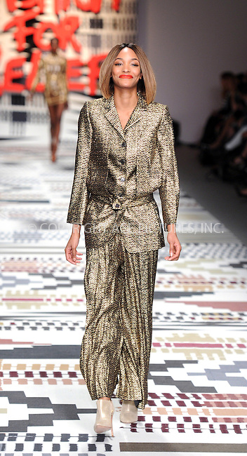 WWW.ACEPIXS.COM<br /> <br /> February 19 2015, London<br /> <br /> Jourdan Dunn walks the runway at the Fashion For Relief charity fashion show to kick off London Fashion Week 2015 at Somerset House on February 19 29015 in London<br /> <br /> By Line: Famous/ACE Pictures<br /> <br /> <br /> ACE Pictures, Inc.<br /> tel: 646 769 0430<br /> Email: info@acepixs.com<br /> www.acepixs.com
