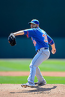 New York Mets pitcher Dillon Gee #35 during a Spring Training game against the Baltimore Orioles at Ed Smith Stadium on March 30, 2013 in Sarasota, Florida.  (Mike Janes/Four Seam Images)