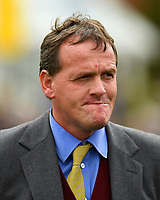 Trainer Richard Hannon during Racing at Newbury Racecourse on 12th April 2019