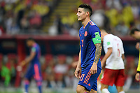 KAZAN - RUSIA, 24-06-2018: James RODRIGUEZ jugador de Colombia en acción durante partido de la primera fase, Grupo H, entre Polonia y Colombia por la Copa Mundial de la FIFA Rusia 2018 jugado en el estadio Kazan Arena en Kazán, Rusia. / James RODRIGUEZ player of Colombia in action during the match between Polonia and Colombia of the first phase, Group H, for the FIFA World Cup Russia 2018 played at Kazan Arena stadium in Kazan, Russia. Photo: VizzorImage / Julian Medina / Cont