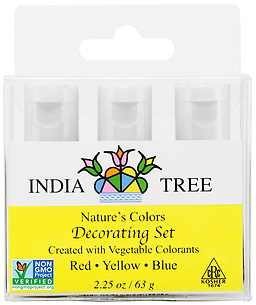 90950 Nature's Colors natural Decorating Set, Decorating Set 2.25 oz, India Tree Storefront