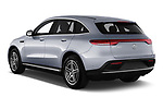Car pictures of rear three quarter view of a 2019 Mercedes Benz EQC AMG-Line 5 Door SUV angular rear