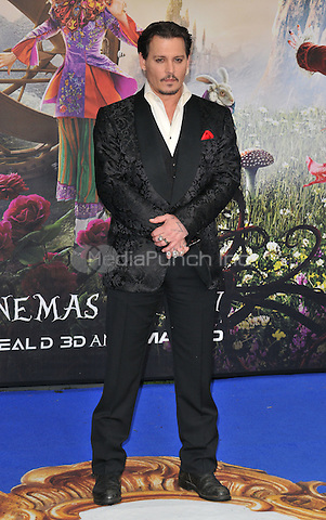 Johnny Depp at the &quot;Alice Through The Looking Glass&quot; European film premiere, Odeon Leicester Square cinema, Leicester Square, London, England, UK, on Tuesday 10 May 2016.<br /> CAP/CAN<br /> &copy;CAN/Capital Pictures /MediaPunch ***NORTH AMERICA AND SOUTH AMERICA ONLY***