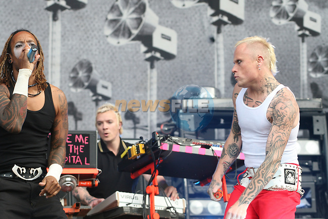 Maxin Reality and Keith Flint of Prodigy at Slane 2009...Photo NEWSFILE/Jenny Matthews.(Photo credit should read Jenny Matthews/NEWSFILE)....This Picture has been sent you under the condtions enclosed by:.Newsfile Ltd..The Studio,.Millmount Abbey,.Drogheda,.Co Meath..Ireland..Tel: +353(0)41-9871240.Fax: +353(0)41-9871260.GSM: +353(0)86-2500958.email: pictures@newsfile.ie.www.newsfile.ie.FTP: 193.120.102.198.