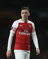 Arsenal's Mesut Ozil<br /> <br /> Photographer Rob Newell/CameraSport<br /> <br /> UEFA Europa League Semi-final 1st Leg - Arsenal v Valencia - Thursday 2nd May 2019 - The Emirates - London<br />  <br /> World Copyright © 2018 CameraSport. All rights reserved. 43 Linden Ave. Countesthorpe. Leicester. England. LE8 5PG - Tel: +44 (0) 116 277 4147 - admin@camerasport.com - www.camerasport.com