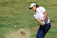 Gavin Green (MAS) chips from a bunker at the 5th green during Sunday's Final Round 4 of the 2018 Omega European Masters, held at the Golf Club Crans-Sur-Sierre, Crans Montana, Switzerland. 9th September 2018.<br /> Picture: Eoin Clarke | Golffile<br /> <br /> <br /> All photos usage must carry mandatory copyright credit (&copy; Golffile | Eoin Clarke)