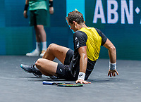 Rotterdam, The Netherlands, 9 Februari 2020, ABNAMRO World Tennis Tournament, Ahoy,  Vasek Pospisil (CAN) falls<br /> Photo: www.tennisimages.com