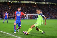 Philippe Coutinho and Joel Ward  during the EPL - Premier League match between Crystal Palace and Liverpool at Selhurst Park, London, England on 29 October 2016. Photo by Steve McCarthy.