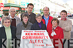 Kenmare Community Alert members l-r: Siobhain Tangney, Tom Hickey, Mary O'Donoghue, Patrick O'Connor-Scarteen, Mary Lucey, Donald Lynch, Peggy Fitzgibbon and Teddy O'Sullivan who are disgusted with the Governments decision to suspend grants to their organisation