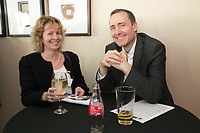Pictured are Virginia Harvey of Shakespeare Matineau and Kenneth Bamford of ACAS