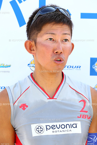 Satoshi Watanabe,<br /> SEPTEMBER 21, 2015 - Beach Volleyball : <br /> JBV Tour 2015 Tokyo Open<br /> Men's Semi-Final<br /> at Odaiba Beach, Tokyo, Japan.<br /> (Photo by Shingo Ito/AFLO SPORT)