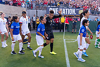 PASADENA, CA - AUGUST 4: Adrianna Franch #21 walks out on the field during a game between Ireland and USWNT at Rose Bowl on August 3, 2019 in Pasadena, California.