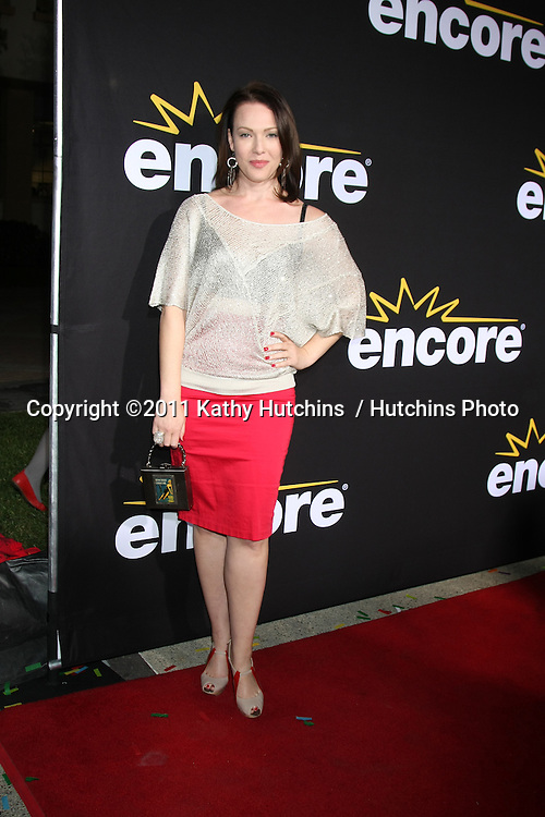 """LOS ANGELES - DEC 7:  Erin Cummings arrives at the Premiere Of Encore's """"Method To The Madness Of Jerry Lewis"""" at Paramount Studios Theater on December 7, 2011 in Los Angeles, CA"""