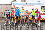 Enjoying the Castleisland Day Care Centre Charity Cycle conjunction with Currow Cycling Club on Sunday were l-r Tim O'Connor, Liam Murphy, William O'Connor, Martin Horgan, Niall Murphy, Paddy Hoare and John Murphy.