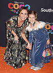 LOS ANGELES, CA - NOVEMBER 08: TV personality Keltie Knight (L) and her niece arrive at the premiere of Disney Pixar's 'Coco' at El Capitan Theatre on November 8, 2017 in Los Angeles, California.