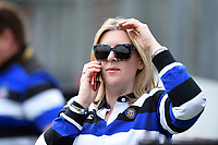 A Bath Rugby supporter in the crowd looks on. Gallagher Premiership match, between Bath Rugby and Wasps on May 5, 2019 at the Recreation Ground in Bath, England. Photo by: Patrick Khachfe / Onside Images