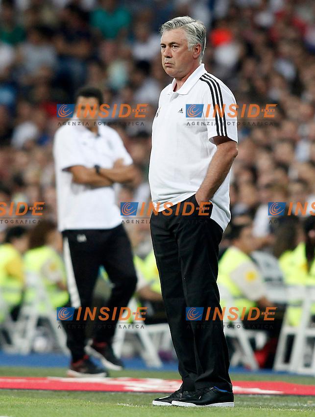 Real Madrid's coach Carlo Ancelotti during Santiago Bernabeu Trophy.August 22,2013. (ALTERPHOTOS/Victor Blanco) <br /> Football Calcio 2013/2014<br /> La Liga Spagna<br /> Foto Alterphotos / Insidefoto <br /> ITALY ONLY