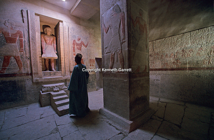 Egypt's Old Kingdom, Tomb of Mereruka, 6th dynasty vizier to Pharaoh Teti, offering room, Saqqara; Mereruka was married to king's daughter Seshseshet