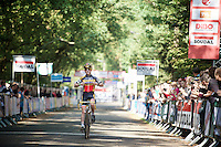 Belgian Junior Champion Eli Yserbit (BEL/Young Telenet Fidea) crosses the finish line first<br /> <br /> GP Neerpelt 2014