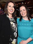 Orlagh Drew and Siobhan Conway pictured at the Emmett Lynch Memorial Cup presentation night in Daly's Donore. Photo:Colin Bell/pressphotos.ie
