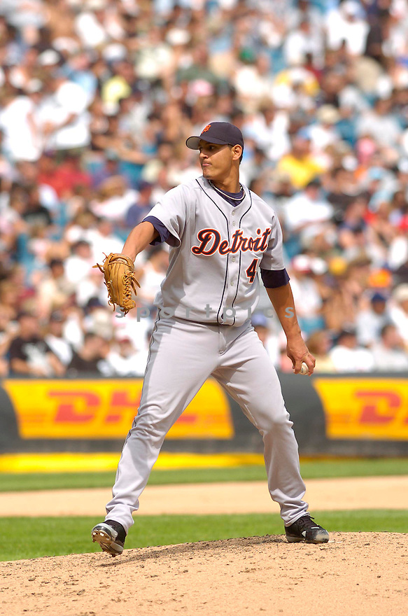 Wilfredo Ledezma, of the Detroit Tigers, in aciton against the  Chicago White Sox on August 13, 2006 in Chicago...Sox win 7-3..David Durochik / SportPics