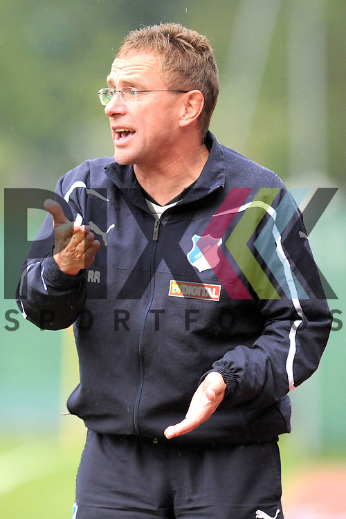 Leogang &Ouml;sterreich 28.07.2010, 1.Fu&szlig;ball Bundesliga Testspiel, TSG 1899 Hoffenheim - Antalyaspor, Hoffenheims Trainer Ralf Rangnick an der Seitenlinie<br /> <br /> Foto &copy; Rhein-Neckar-Picture *** Foto ist honorarpflichtig! *** Auf Anfrage in h&ouml;herer Qualit&auml;t/Aufl&ouml;sung. Belegexemplar erbeten. Ver&ouml;ffentlichung ausschliesslich f&uuml;r journalistisch-publizistische Zwecke.