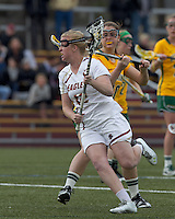 Boston College attacker Moira Barry (12). Boston College defeated University of Vermont, 15-9, at Newton Campus Field, April 4, 2012.