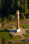 Aerial View of the Astoria Column, Oregon