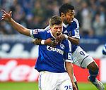 Duitsland, Gelsenkirchen, 28 april  2013.Seizoen 2012-2013.Bundersliga.FC Schalke 04 - Hamburger SV.Klaas Jan Huntelaar schreeuwt het uit en juicht na het scoren van de 3-1