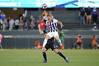 SAN JOSE, CA - JULY 16: Sandro Ramírez Castillo #20 of Real Valladolid during a friendly match between the San Jose Earthquakes and Real Valladolid on July 16, 2019 at Avaya Stadium in San Jose, California.